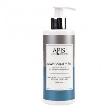 APIS drėkinamasis veido prausimosi gelis su hialurono rūgštimi, 300ml