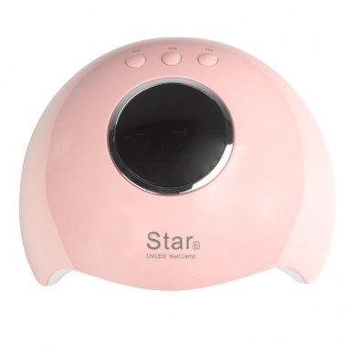 UV LED lempa nagams STAR 6 24W, rožinės sp. 6