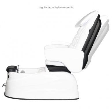 Pedikiūro krėslas PEDICURE SPA AS-122, su masažo funkcija, baltos sp. 4