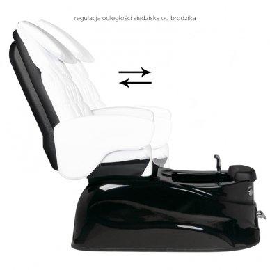 SPA pedikiūro krėslas SPA AS-122, baltos sp. su masažo funkcija 3