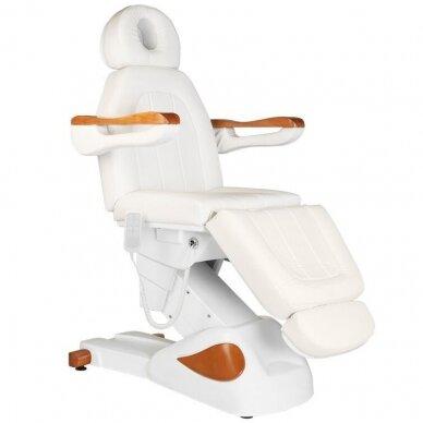 Elektrinis kosmetologijos krėslas 2323 IVORY/WOOD, 4 varikliai