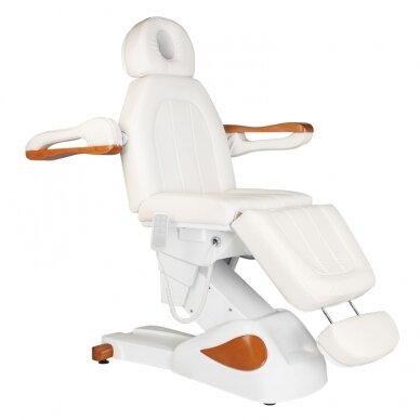 Elektrinis kosmetologijos krėslas 2323 IVORY/WOOD, 4 varikliai 3