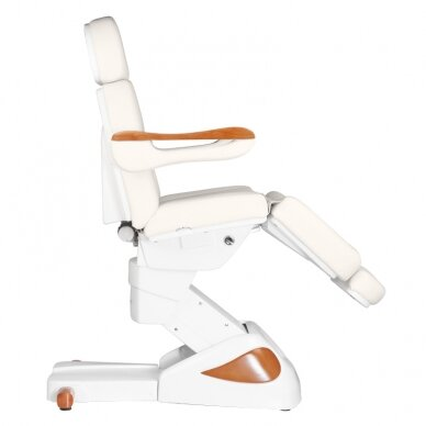 Elektrinis kosmetologijos krėslas 2323 IVORY/WOOD, 4 varikliai 4