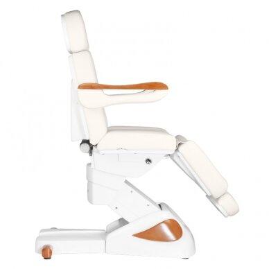 Elektrinis kosmetologijos krėslas 2323 IVORY/WOOD, 4 varikliai 5