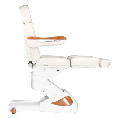 Elektrinis kosmetologijos krėslas 2323 IVORY/WOOD, 4 varikliai 6