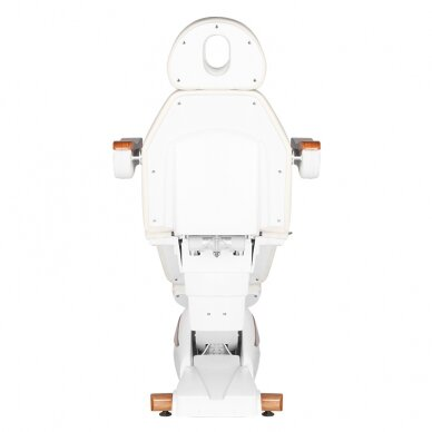 Elektrinis kosmetologijos krėslas 2323 IVORY/WOOD, 4 varikliai 8