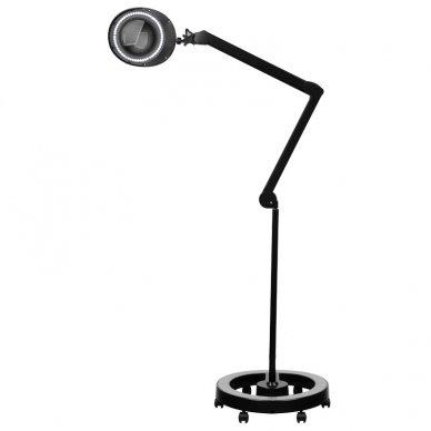 Lempa su lupa ELEGANTE 6025 SMD 5D, su stovu, juodos sp.