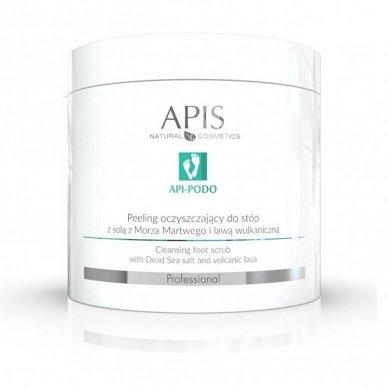 APIS API-PODO pėdų šveitiklis su jūros druska ir vulkanine anglimi, 700gr