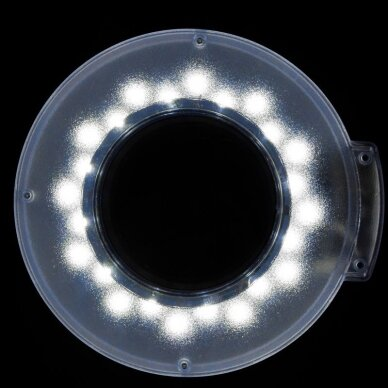 LED Lempa su lupa, stovu S5 ir reguliuojamu šviesos intensyvumu 3