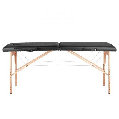 Sulankstomas masažo stalas WOOD COMFORT 2 BLACK, juodos sp. 4