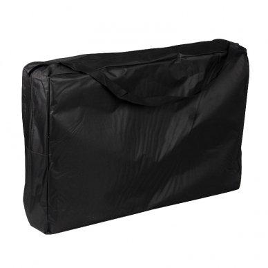 Sulankstomas masažo stalas WOOD COMFORT 2 BLACK, juodos sp. 6