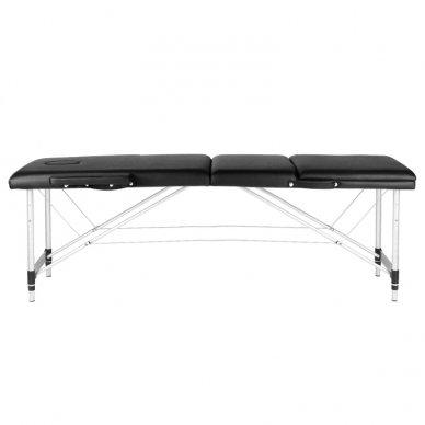 Sulankstomas 3 dalių masažo stalas su aliuminio kojelėm KOMFORT BLACK 2