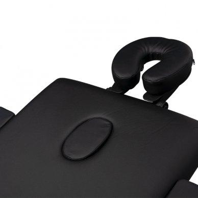 Sulankstomas 3 dalių masažo stalas su aliuminio kojelėm KOMFORT BLACK 6