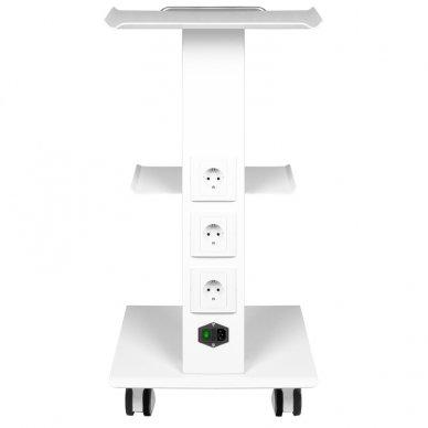 Mobilus staliukas - vežimėlis kosmetologijos prietaisams, baltos sp. 2