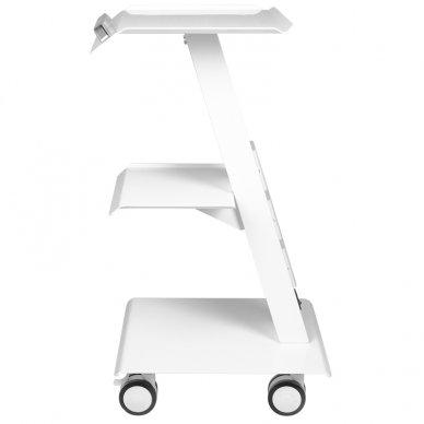 Mobilus staliukas - vežimėlis kosmetologijos prietaisams, baltos sp. 3