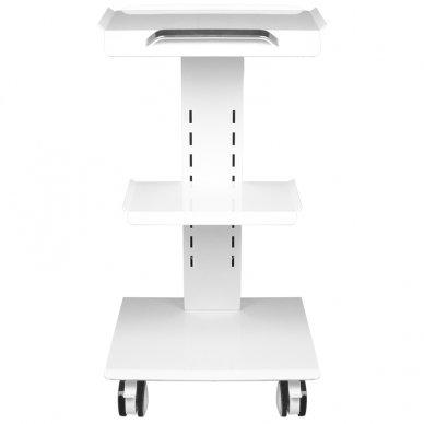 Mobilus staliukas - vežimėlis kosmetologijos prietaisams, baltos sp. 4