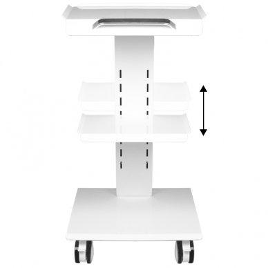 Mobilus staliukas - vežimėlis kosmetologijos prietaisams, baltos sp. 5