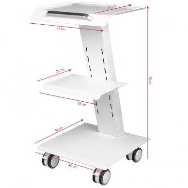 Mobilus staliukas - vežimėlis kosmetologijos prietaisams, baltos sp. 6