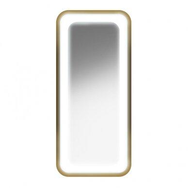 Kirpyklos veidrodis su apšvietimu GABBIANO B094, aukso sp. 2
