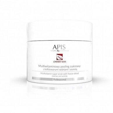 APIS cukraus šveitiklis su liofilizuotomis vyšniomis irAcerola veidui, 220g