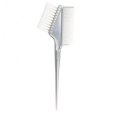 Teptukas plaukų dažams su šukomis, sidabrinės sp.