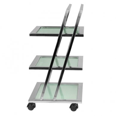 Kosmetologinis vežimėlis GIOVANNI 070 CHROM, 3 lentynos, chromo sp. 3