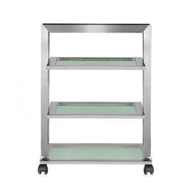 Kosmetologinis vežimėlis GIOVANNI 070 CHROM, 3 lentynos, chromo sp. 4