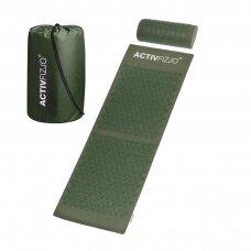 Akupresūros kilimėlis ir pagalvė ACTIVFIZJO, žalia sp.
