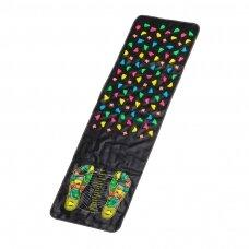 Akupresūros kilimėlis ir pagalvė ACTIVFIZJO, juoda-rausva sp.