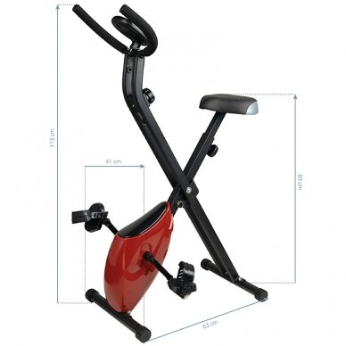 X-BIKE dviratis - treniruoklis, raudonos sp. 5