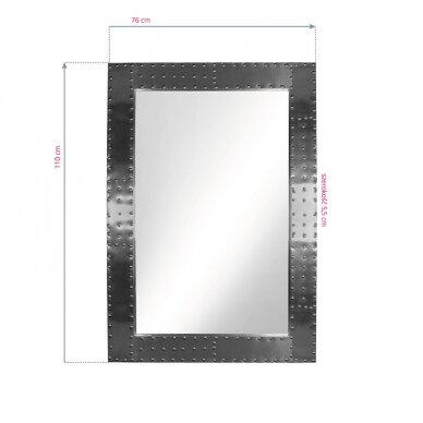 GABBIANO konsolės veidrodis BARBER BOSS ALU 2