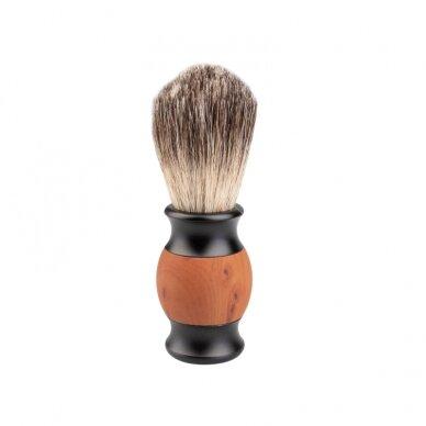 Barzdos šepetys DE LUX (barsuko šeriai)