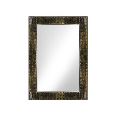 GABBIANO konsolės veidrodis BARBER BOSS, sendinto aukso sp. rėmas