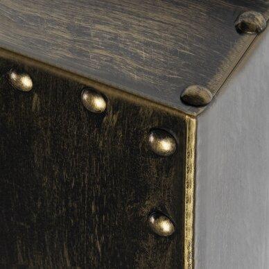 GABBIANO konsolės veidrodis BARBER BOSS, sendinto aukso sp. rėmas 2