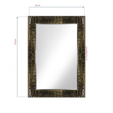 GABBIANO konsolės veidrodis BARBER BOSS, sendinto aukso sp. rėmas 3