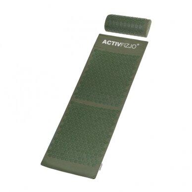 Akupresūros kilimėlis ir pagalvė ACTIVFIZJO, žalia sp. 2