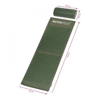 Akupresūros kilimėlis ir pagalvė ACTIVFIZJO, žalia sp. 6
