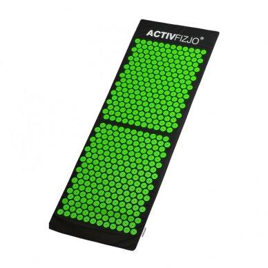 Akupresūros kilimėlis ir pagalvė ACTIVFIZJO, žalia-juoda sp. 3