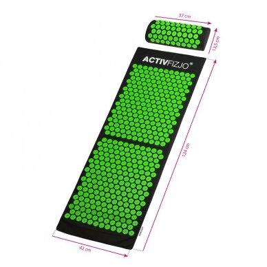 Akupresūros kilimėlis ir pagalvė ACTIVFIZJO, žalia-juoda sp. 6