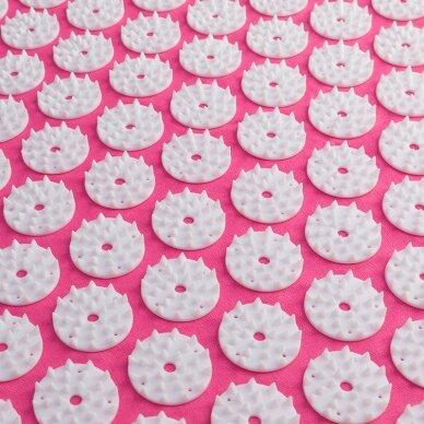 Akupresūros kilimėlis ir pagalvė ACTIVFIZJO, rausva-balta sp. 4