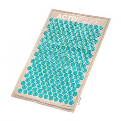 Akupresūros kilimėlis su pagalve, kreminė/turkio sp. 4