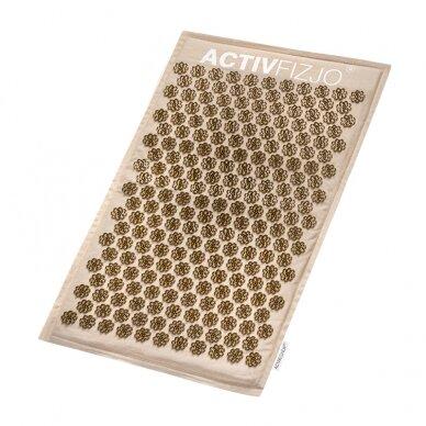 Akupresūros kilimėlis su pagalve, kreminė/aukso sp. 4