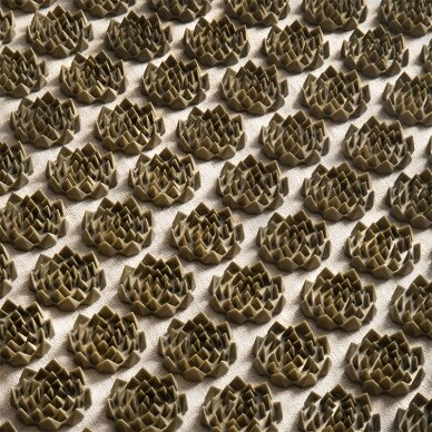 Akupresūros kilimėlis su pagalve, kreminė/aukso sp. 5
