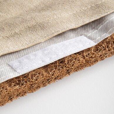 Akupresūros kilimėlis su pagalve, kreminė/aukso sp. 6