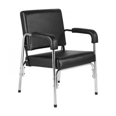 GABBIANO salono krėslas GB-1004 kirpyklos plautuvėms, juodos sp.  2