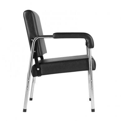 GABBIANO salono krėslas GB-1004 kirpyklos plautuvėms, juodos sp.  4