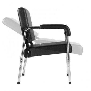 GABBIANO salono krėslas GB-1004 kirpyklos plautuvėms, juodos sp.  7