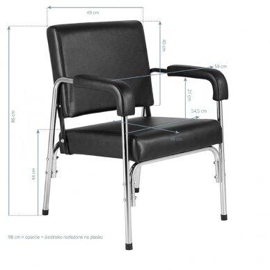 GABBIANO salono krėslas GB-1004 kirpyklos plautuvėms, juodos sp.  9