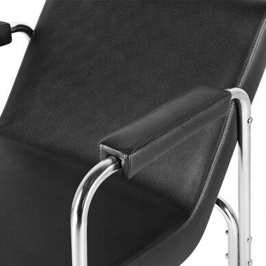 GABBIANO salono krėslas kirpyklos plautuvėms, juodos sp.  5