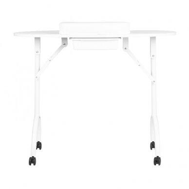 Sulankstomas manikiūro stalas su stalčiumi, baltos sp.  2